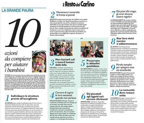 Vademecum Fondazione Paoletti per aiutare i bambini dopo il terremoto